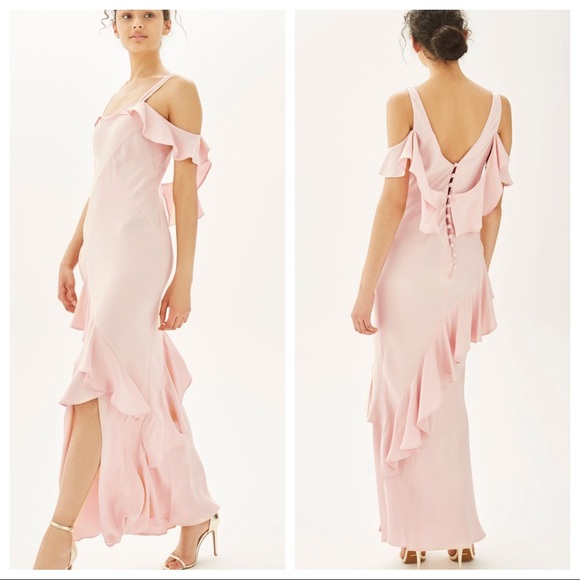 a397623f3b31 Topshop Dresses | Nwt Bridal Ruffle Maxi Dress Sz 4 R17 | Poshmark